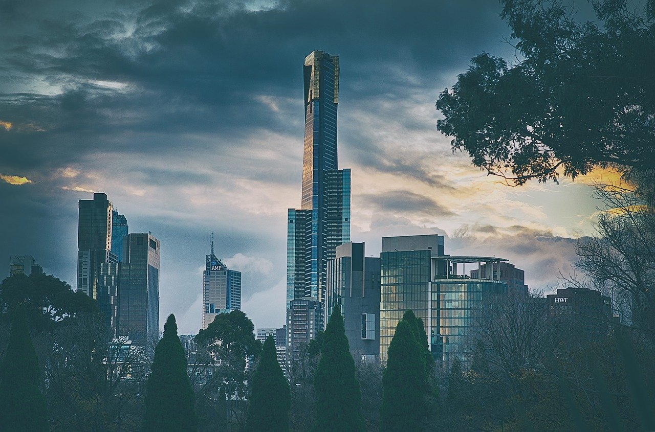 melbourne, city, cityscape